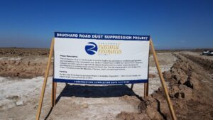 Photo of informational signage at project site